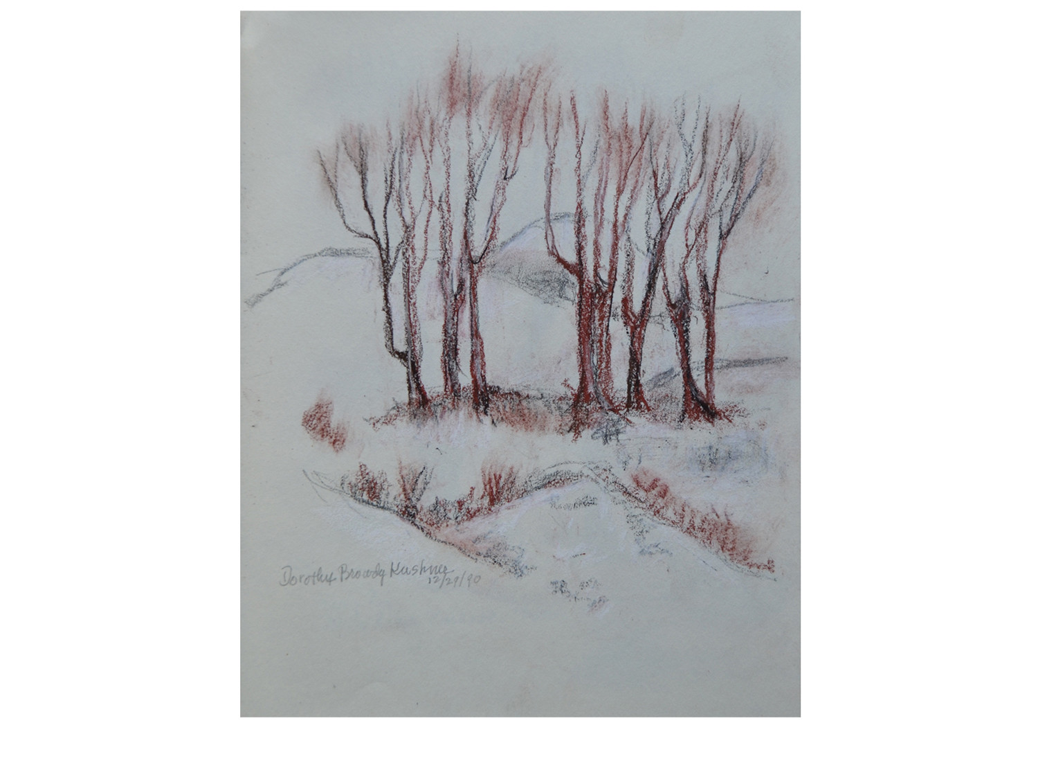Dorothy Browdy Kushner Trees in the Snow 1990-11
